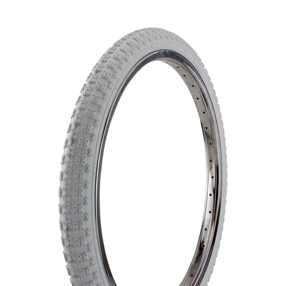 "Bicycle Tire Wanda 20"" x 1.75"" Comp3 Thread. bike tire, Various Colors (White)"