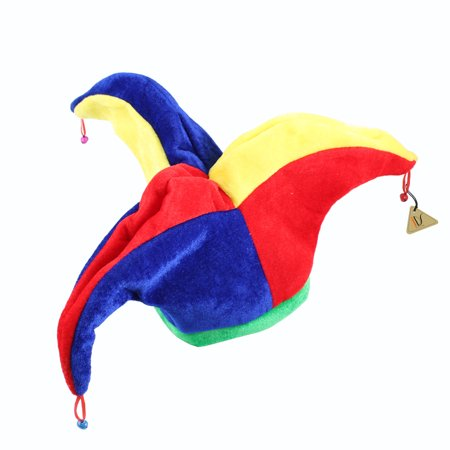 Funny Multicolor Halloween Jester Clown Mardi Gras Party Costume Hat (Funny Halloween Costumes 2017 Ideas)