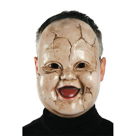 Adult Baby Giggles Toddler Creepy Horror Scary Doll Mask Costume