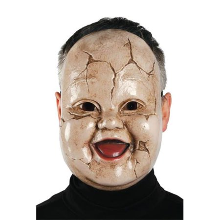 Adult Baby Giggles Toddler Creepy Horror Scary Doll Mask - Creepy Toddler Costumes
