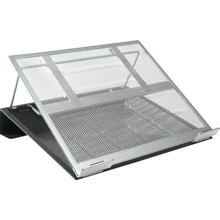 Rolodex Mesh Workspace Laptop Stand, Black/Silver - Desk Accessories Rolodex