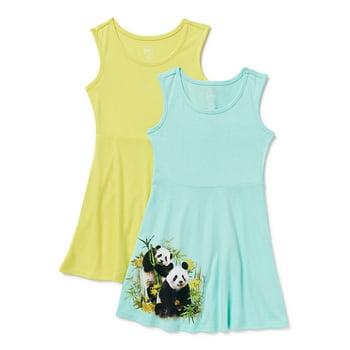 2-Pack Wonder Nation Girl's Sleeveless Play Dress