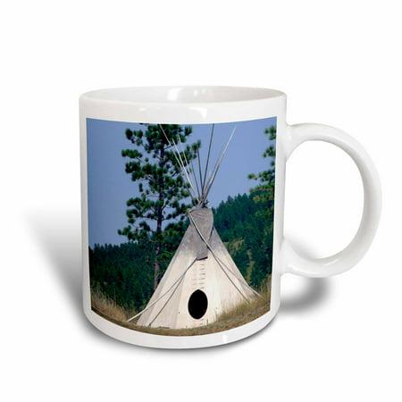3dRose SD, Lakota Indian teepee, Native American - US42 CMI0278 - Cindy Miller Hopkins, Ceramic Mug, 15-ounce
