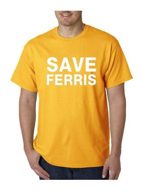 Allwitty 1049 - Unisex T-Shirt Save Ferris Bueller's Day Off Movie Parody