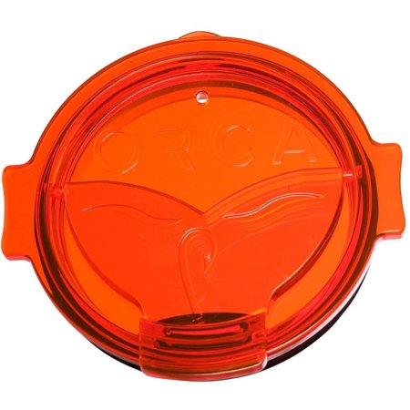 Whale Tail Orange Flip Top Chaser Lid