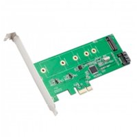 PCIe x1 to M.2(NGFF) + SATA 6G (HDD/SSD) with Standard & Low Profile Brackets
