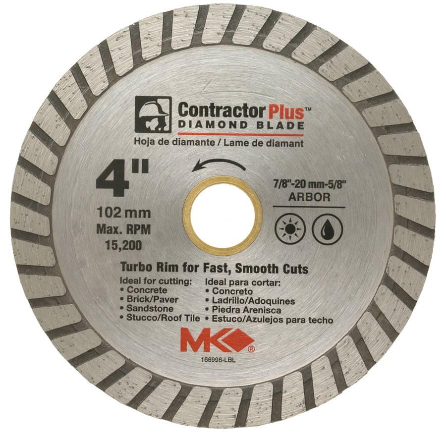 """MK Diamond 166998 4"""" Contractor Plus Diamond Blade"""