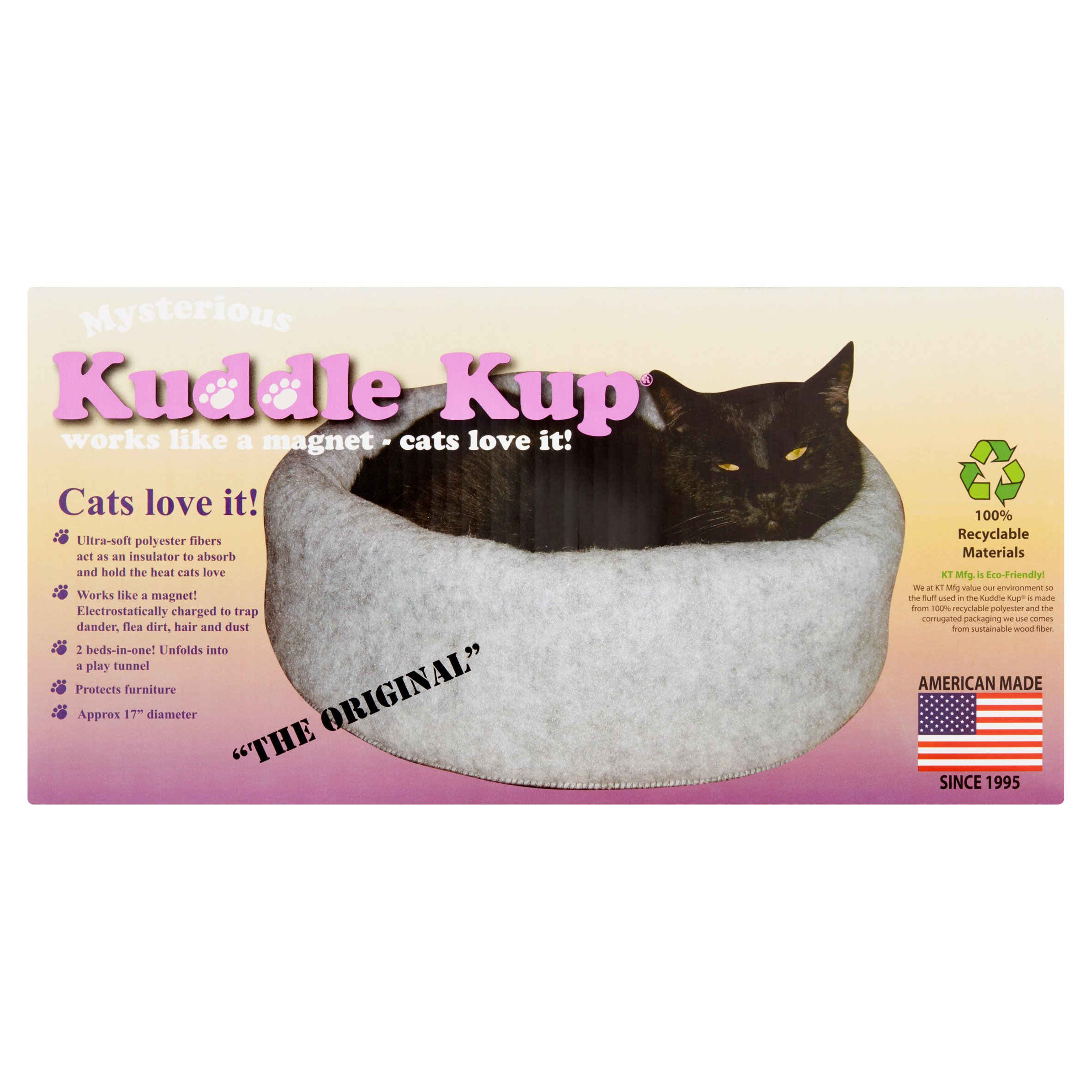 Mysterious Kuddle Kup White Cat Bed