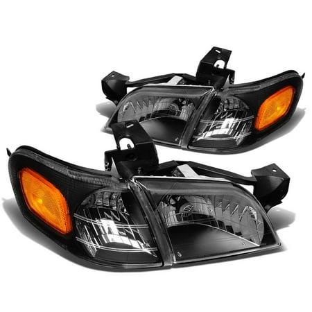 - For 97-05 Venture/Silhouette 4pcs Replacement Headlight+Corner Light (Black Housing Amber Reflector) 99 00 01 02 03 04