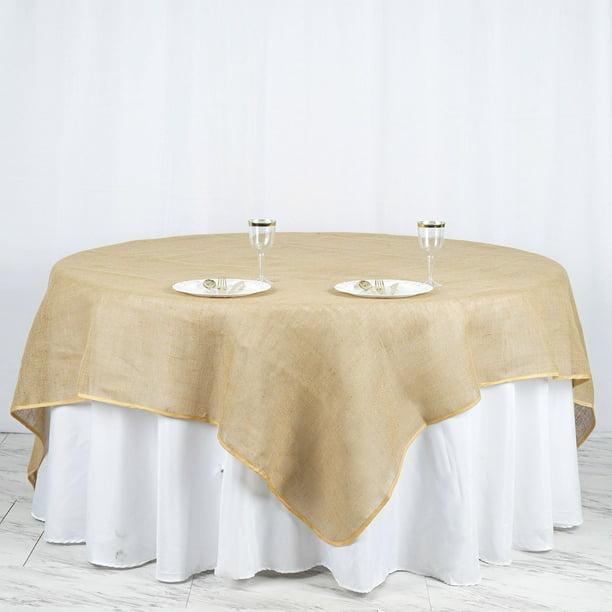 Efavormart Chambury Casa Fine Rustic Burlap Tablecloth Square Tablecloth Overlay Walmart Com Walmart Com