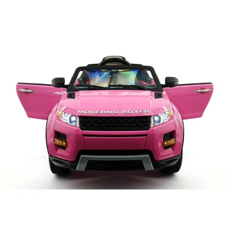 RANGE ROVER STYLE 12V KIDS RIDE-ON CAR MP3 BATTERY POWERED LED WHEELS RC REMOTE | PINK 6 Wheel Range Rover