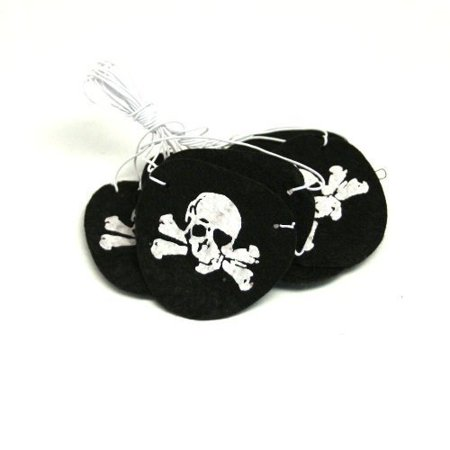 Felt Pirate Eye Patches (2-Pack of 12)