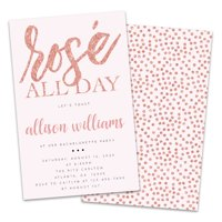Personalized Rosé All Day Bachelorette Party Invitations