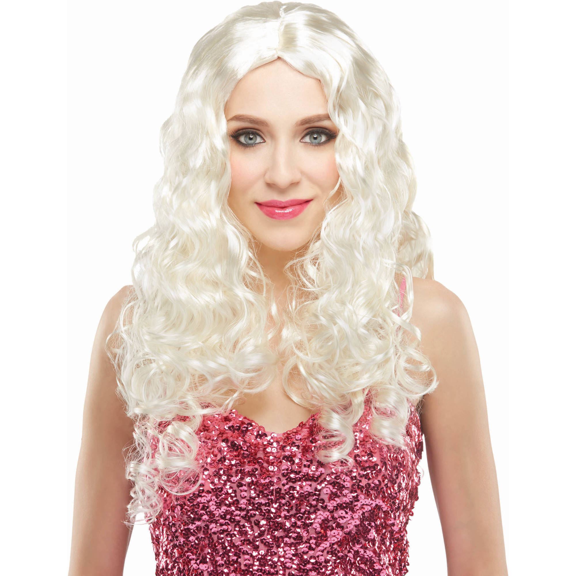 "30"" Blonde Wig Halloween Accessory"