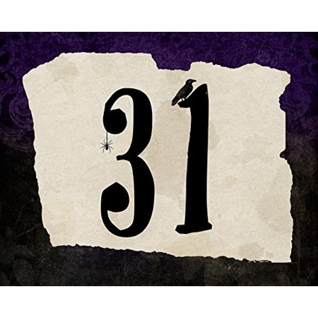 31 Print Scary Date Design Purple Black Background Spider Bird Picture Halloween Decoration Wall Hanging Seasonal Poster - Halloween Nj Date