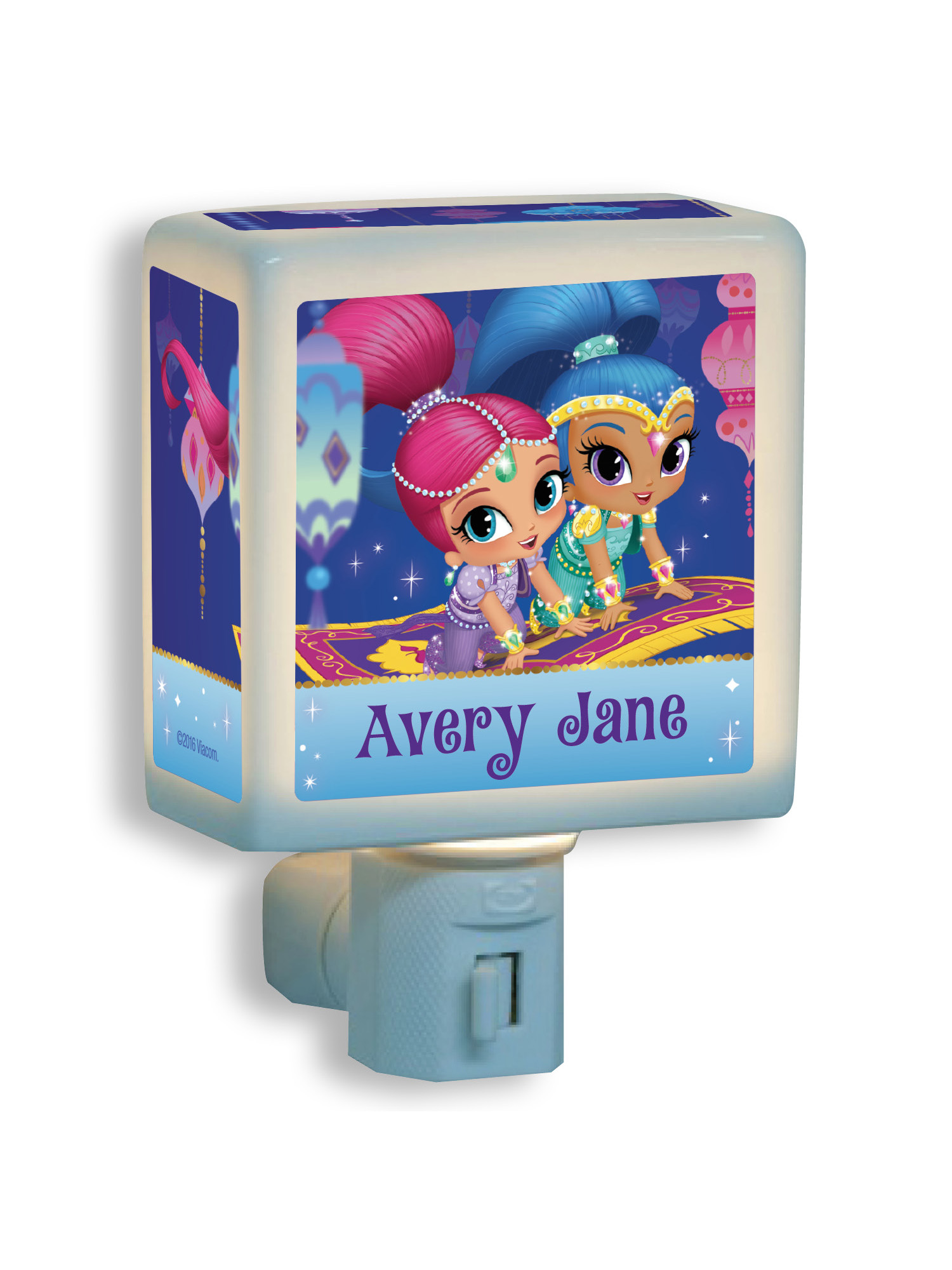 Personalized Shimmer and Shine Magic Carpet Nightlight, Pink by Generic