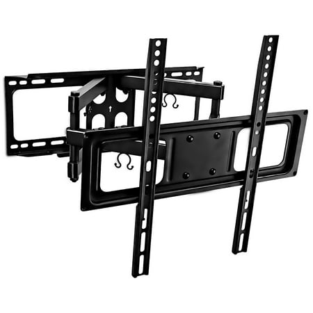 Mount-It! TV Wall Mount 32″- 55″ LCD LED Plasma TV Flat Screen Full Motion Articulating Dual Arm Mount 88 Lbs Capacity (MI-3990)