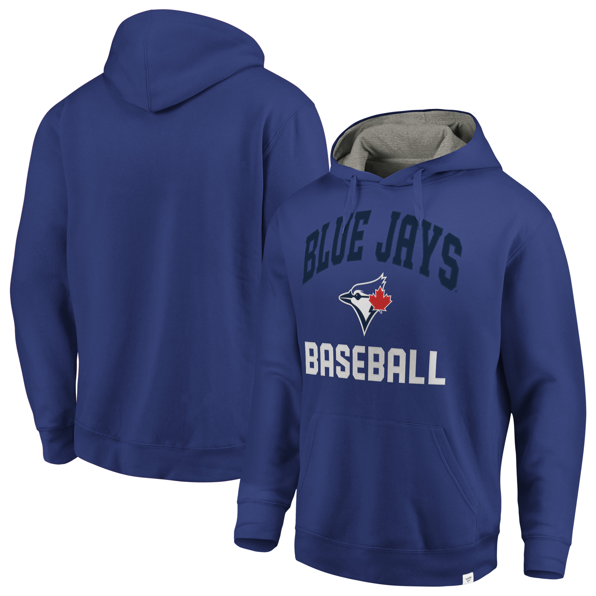 Toronto Blue Jays Fanatics Branded Post Game Pullover Fleece Hoodie - Royal/Gray