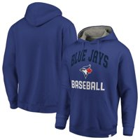 Toronto Blue Jays Fanatics Branded Post Game Pullover Fleece Hoodie - Royal/Gray