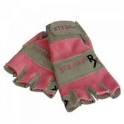 Stronger RX RTG Half Fingers Pink Gloves, Large