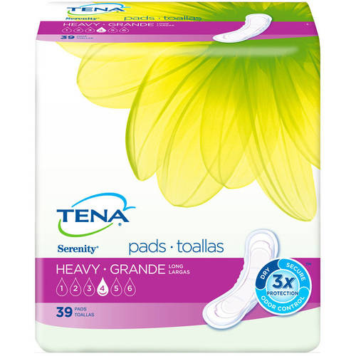 Tena Serenity Heavy Long Pads, 39 count