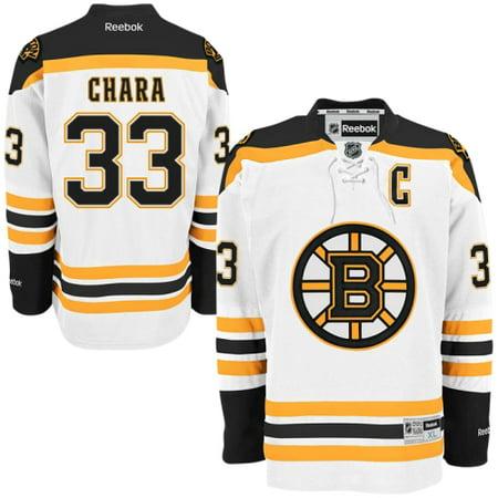 (Zdeno Chara Reebok Boston Bruins Official Road White Premier Jersey Men's)