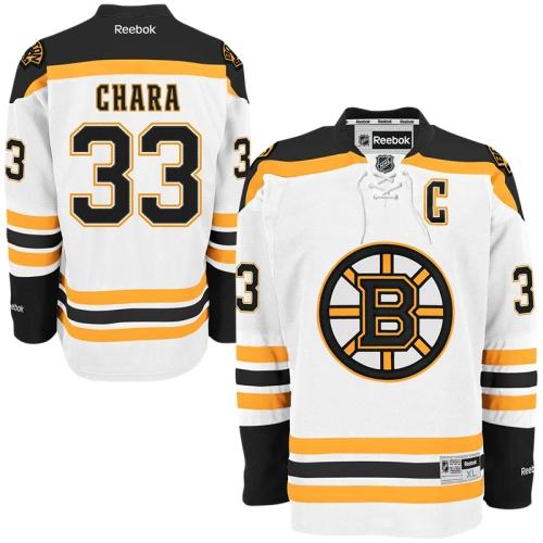 Zdeno Chara Reebok Boston Bruins Official Road White Premier Jersey Men's