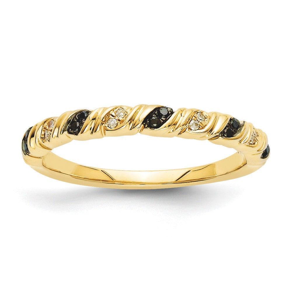 14k Gold Black and White Ring - .07 dwt 2.6 Grams