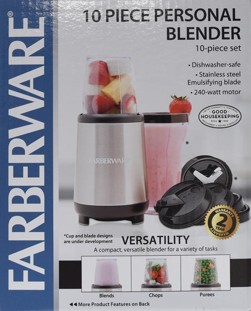 Farberware 10Piece Single Serve Blender Set Walmartcom