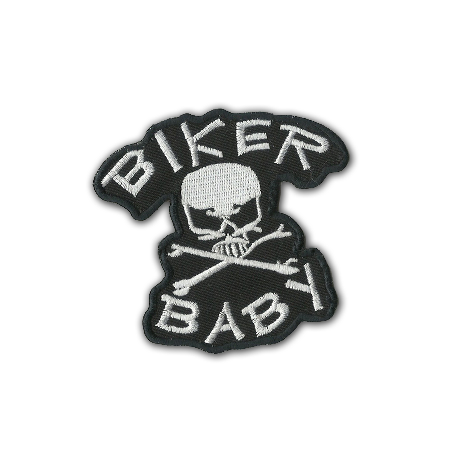 Biker Baby Skull N' Bone Embroidered Patch Logo Sew Ironed On Badge  Embroidery Applique Patch