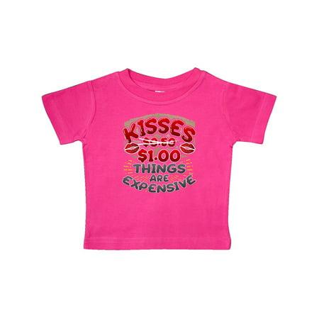 Funny Valentines Day Kisses Joke Baby T-Shirt
