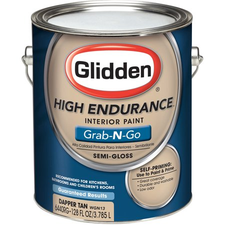 glidden high endurance grab n go interior paint semi gloss finish dapper tan 1 gallon. Black Bedroom Furniture Sets. Home Design Ideas