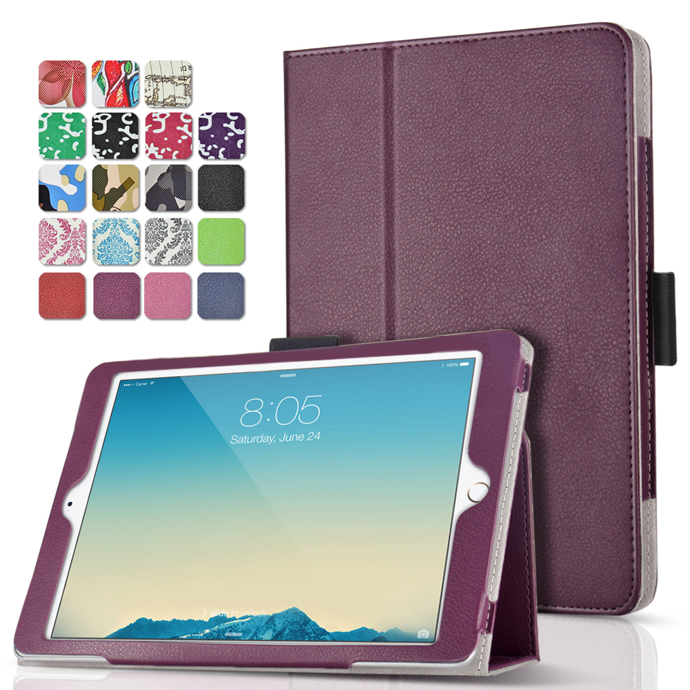 "iPad Pro 9.7 Case (Purple) Ultra Slim Lightweight Protective Stand Folio Smart Cover with Card Slots, Stylus Holder, Auto Sleep/Wake Feature for Apple iPad Pro 9.7"" 2016 Release Tablet"
