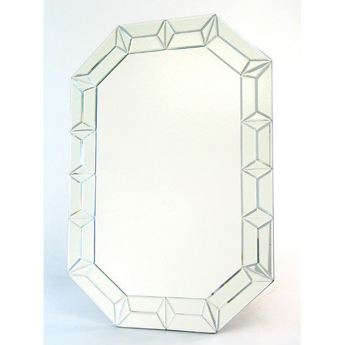 Wayborn Beveled Diamond Wall Mirror - 27.5W x 39.5H in.