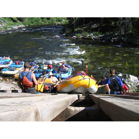 LAMINATED POSTER Launch Rafting Ramp Salmon River Poster Print 24 x 36