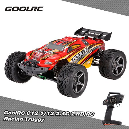 - GoolRC C12 2.4GHz 2WD 1/12 35km/h Brushed Electric Monster Truck Racing Truggy Off-Road Buggy RC Car RTR