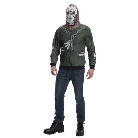 Adult Jason Friday The 13th Hoodie Costume by Rubies 881573 (Ladies Friday 13th Halloween Costume)