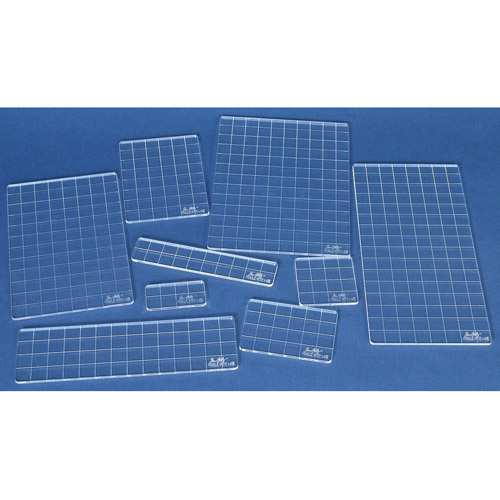 Tim Holtz Acrylic Grid Block Set , 9 Pieces