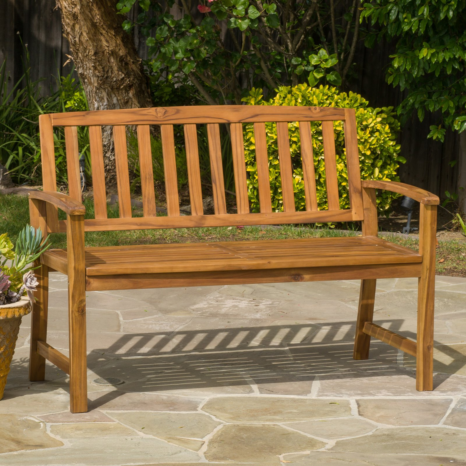 Christina 4 ft. Slat Back Picnic Bench