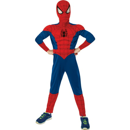 Spider-Man Muscle Child Halloween Costume](Black Suit Spiderman Costume)