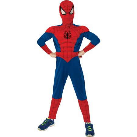 Spider-Man Muscle Child Halloween Costume](Genuine Spiderman Costume)