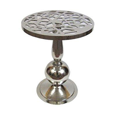 Round Aluminum Pedestal Table, 16.75 Diameter and 21 High