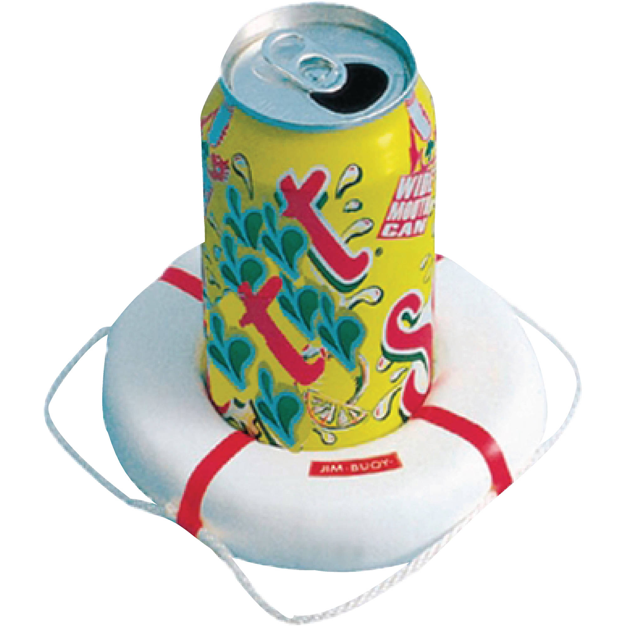 Jim-Buoy 400 Life Ring Style Coasters, 6pk, Assorted Colors