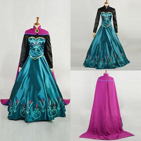 New Fashion Princess Queen Gown Girls Cosplay Costume Party Formal Evening Ceremony Long Dress (Formal Cosplay Ideas)