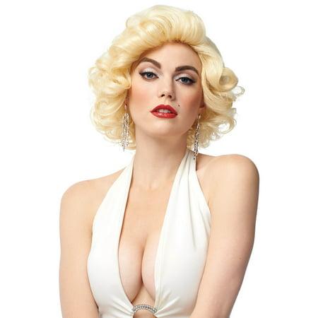 Blonde Bombshell Wig (Blonde Bombshell Adult Wig)