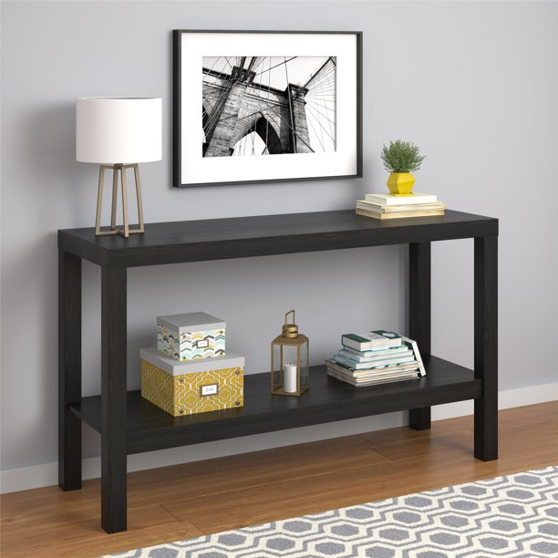Mainstays Parsons Console Table, Multiple Colors Available - blackoak