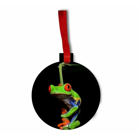 Climbing Tree Frog - TM Hardboard Hanging Holiday Tree Ornament Made in the -