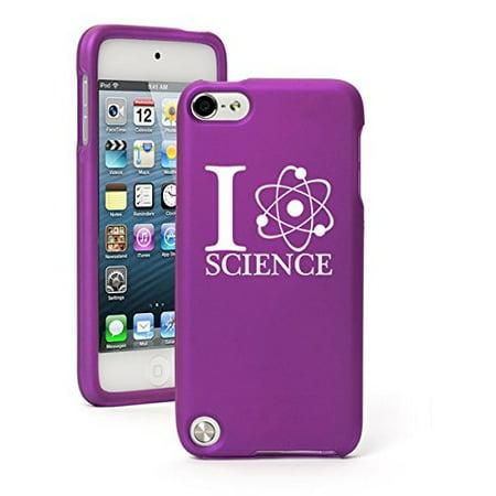 Purple Love Rubber (Apple iPod Touch 5 5th Generation Rubber Hard Case Cover I Love Science (Purple))