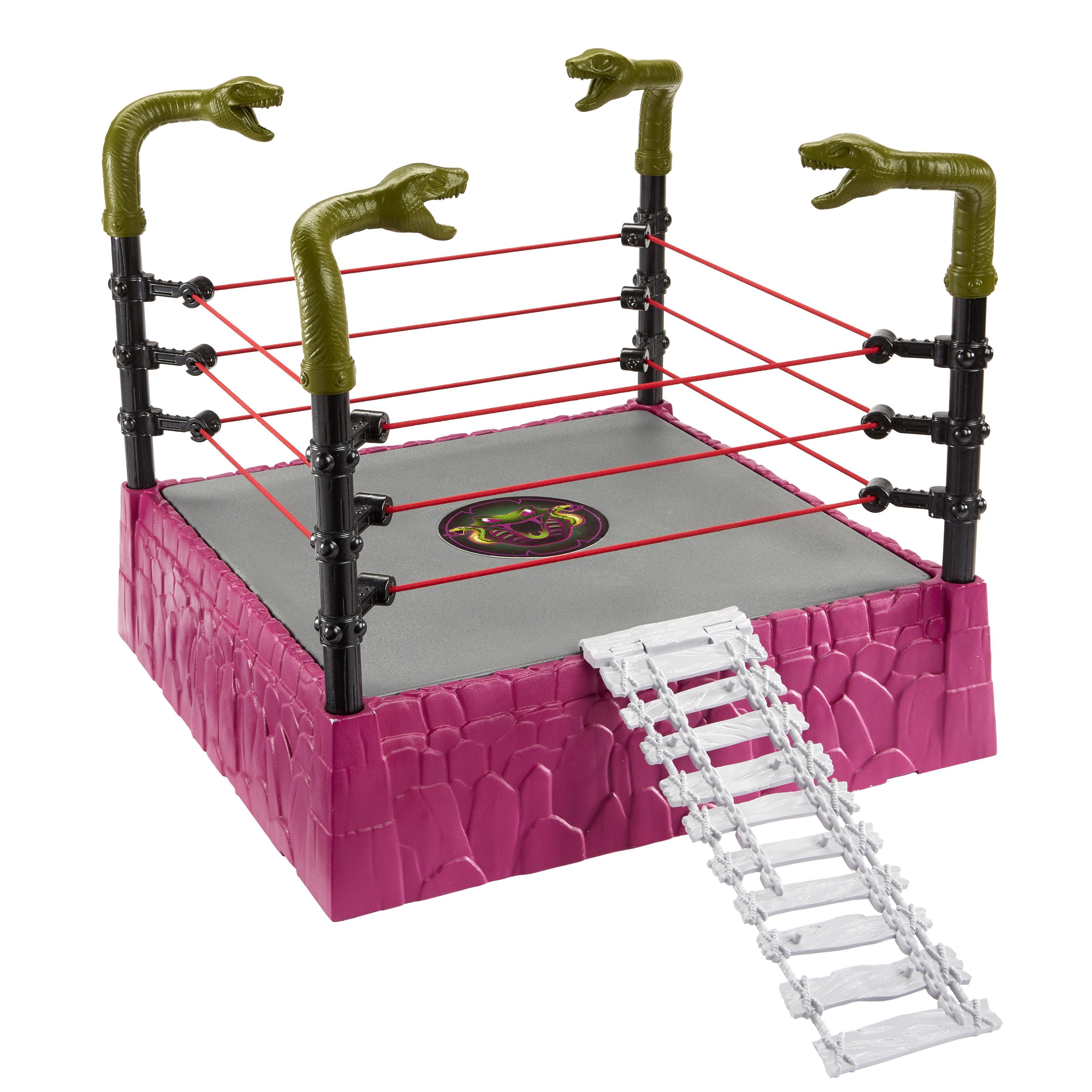 WWE MASTERS OF THE UNIVERSE RATTLESNAKE MOUNTAIN RING PLAYSET HOGAN SCSA DMG PKG