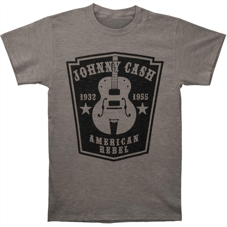 Johnny Cash Men's  Slim Fit T-shirt Heather